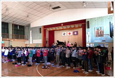 創業100周年記念事業『小学校コンサート』を深谷小学校にて開催しました