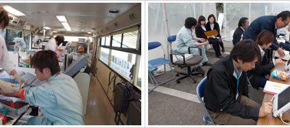 平成27年4月10日 深谷市建設業協会主催の「献血」が実施されました