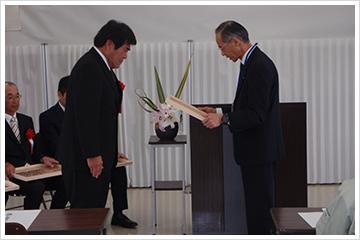 平成27年度 埼玉県農林部優秀建設工事施工者 表彰式が行われました。