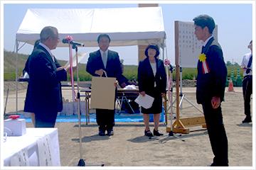 『県営農地防災事業秦地区』通水式典が行われました。