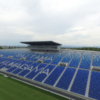 熊谷ラグビー場既存スタンド外部その2改修工事